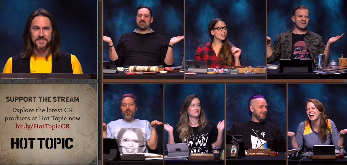 If you want to know why sometimes episodes are 5h long just notice how they've spent 5 minutes trying to figure out how their hands would be if they were really holding hands #CriticalRole #CriticalRoleSpoilers