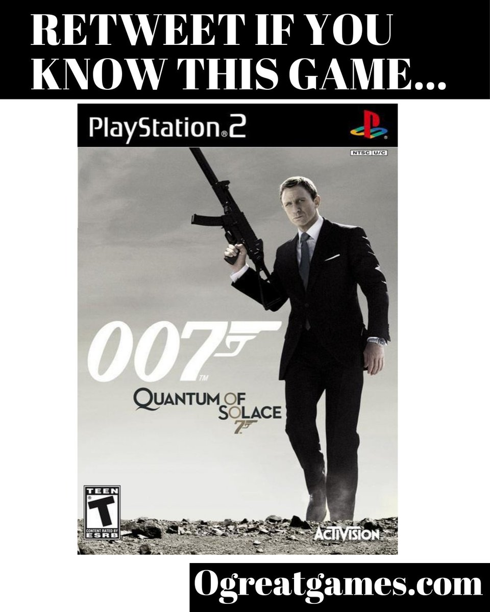 Retweet if you ever have seen the video game 007 Quantum of Solace! #if #retweet #rt #videogames #gamerunite https://t.co/fhAxF5O2CB
