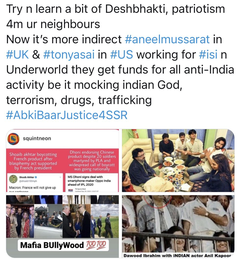 Guys tseries is an underdog #divyakhoslakumar is crooked who is hand in hand with underworld after the only right person was murder #gulshankumar who was very spiritual. Akshay kumar #lakshmi was made by #kashmiractivist #shabinaaentertainment its upto u #CBILiable4SSRJustice