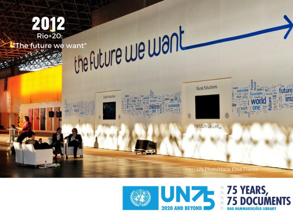 """""""Rio+20"""", die Konferenz der UNO über nachhaltige Entwicklung, fand 2012 in Rio de Janeiro statt. Es war die grösste UNO-Konferenz und ein Schritt in Richtung einer nachhaltigen Zukunft. #UNOTag #UNDay #UN75 #MultilateralismMatters #multilateralism100 #75years75documents"""