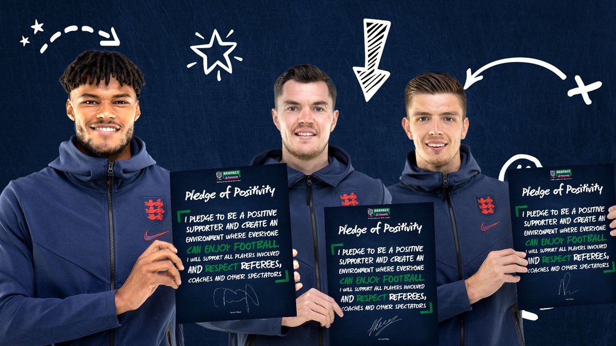 Join @Popey1992, @OfficialTM_3 and @michaelkeane04 in signing up to the @FA's #PledgeOfPositivity.  👉  👈