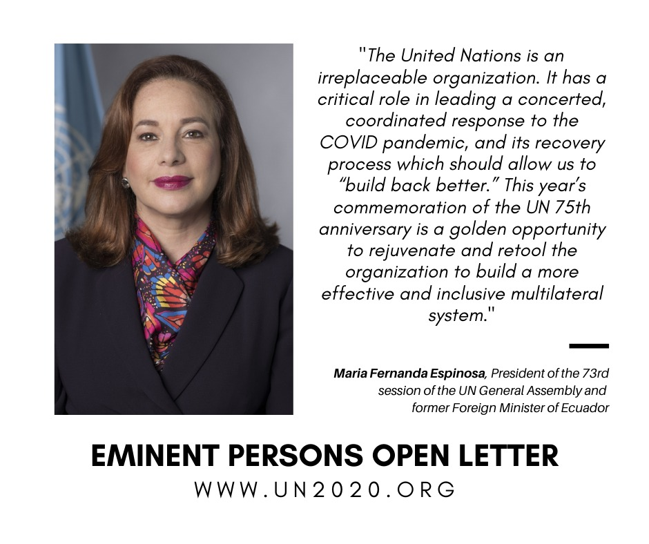 From #climatechange to #humanrights, gender & racial equality, and from sustainable development to international peace & security – the international community should honor its commitments to the UN's founding Charter, #SDGs, & Paris Agreement in #UN75 & beyond. #MakeUN75Count