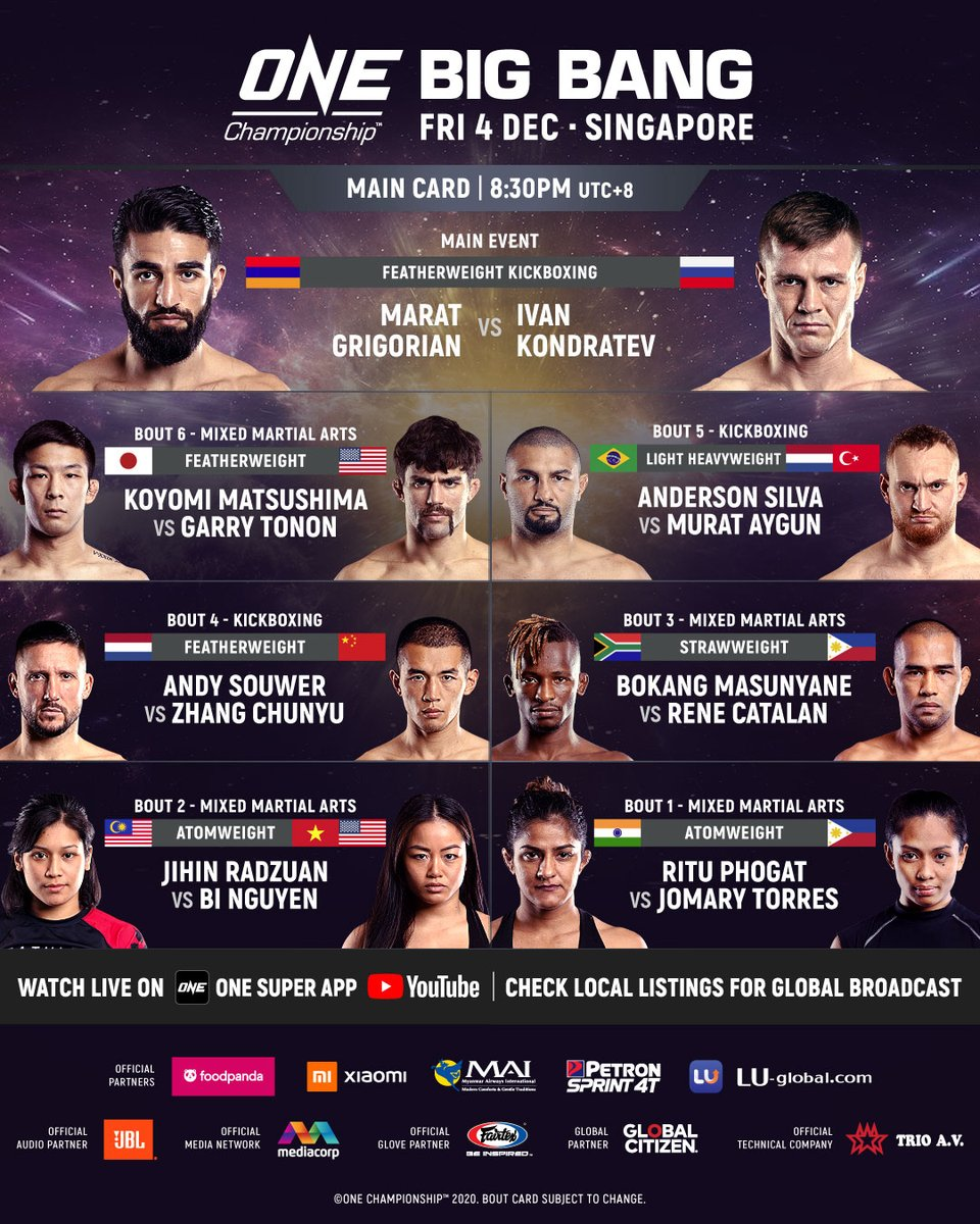 Replying to @mitchchilson: ONE: Big Bang has been updated and its gonna be a BANGER! @ONEChampionship