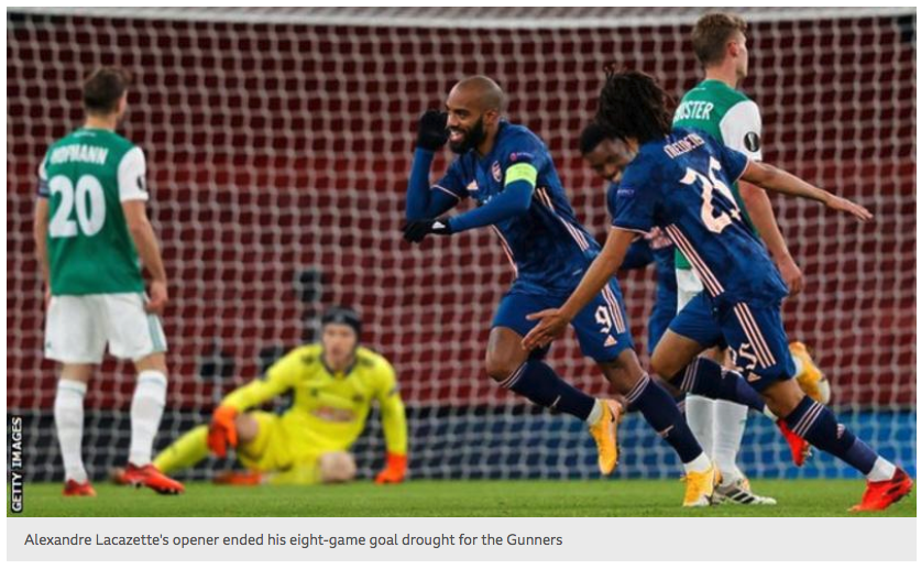 """03/12/20 #EuropaLeague  Arsenal 4 - 1 Rapid Vienna  '#ArsenalFC boss Mikel Arteta said the return of fans to Emirates Stadium as they outclassed Rapid Vienna in the Europa League made it a """"very special night"""".' #ARS #Gunners  #YaGunnersYa"""