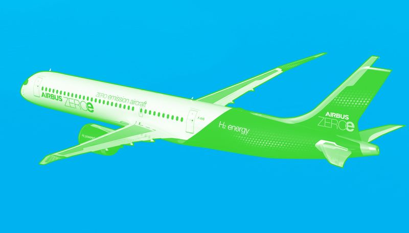 Airbus has given itself 5 years to develop a plane that doesn't pollute the sky.   Here's how it plans to do it, and what's at stake   by @charlie_ryan1 @MathisWilliam #netzero #climatechange #hydrogen