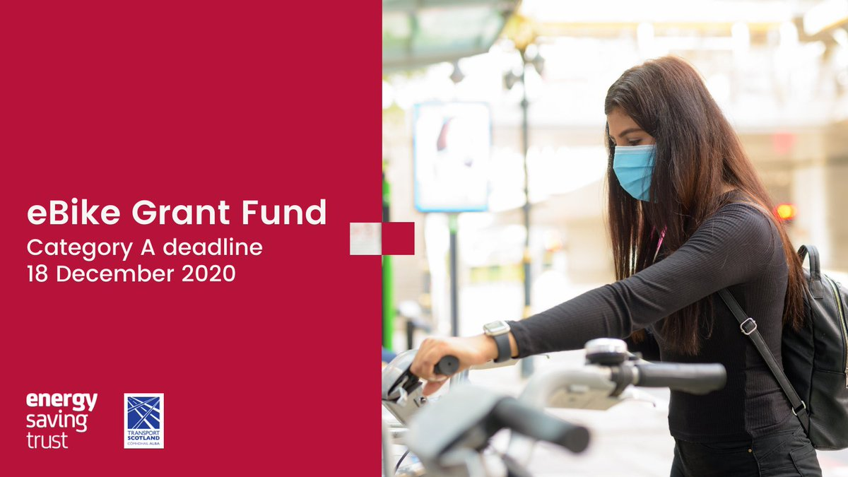 The final deadline for eBike Grant Fund Category A applications is just two weeks away.  The fund offers up to £25,000 towards projects that provide opportunities for communities to trial #eBikes.  Find more info here:   #LowCarbon #Transport #NetZero
