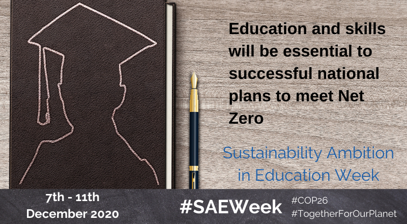 With the UK's latest GHG emissions reduction target 68% by 2030 - never has it been more important for universities and colleges to plan for #NetZero! Have you signed the Global Climate Letter? Show your ambition and plan for the future:  #SAEWeek #COP26