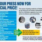 Image for the Tweet beginning: Upgrade your press now at