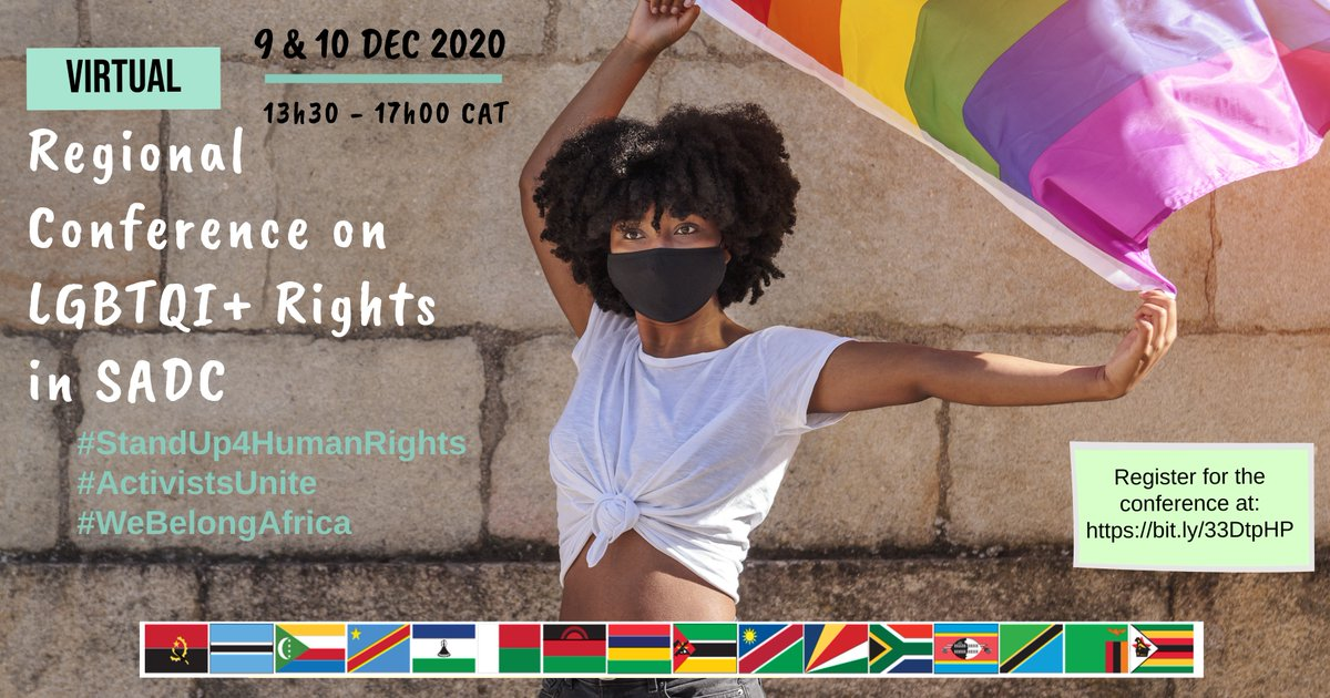 Join us for a riveting conversation at the Regional Conference on LGBTQI+ Rights in SADC. Your voice matters & you can be a part of the journey.  Register here   #StandUp4HumanRights #ActivistsUnite #WeBelongAfrica  #RegisterESGM #TiniTwitter #LGBTI #Africa