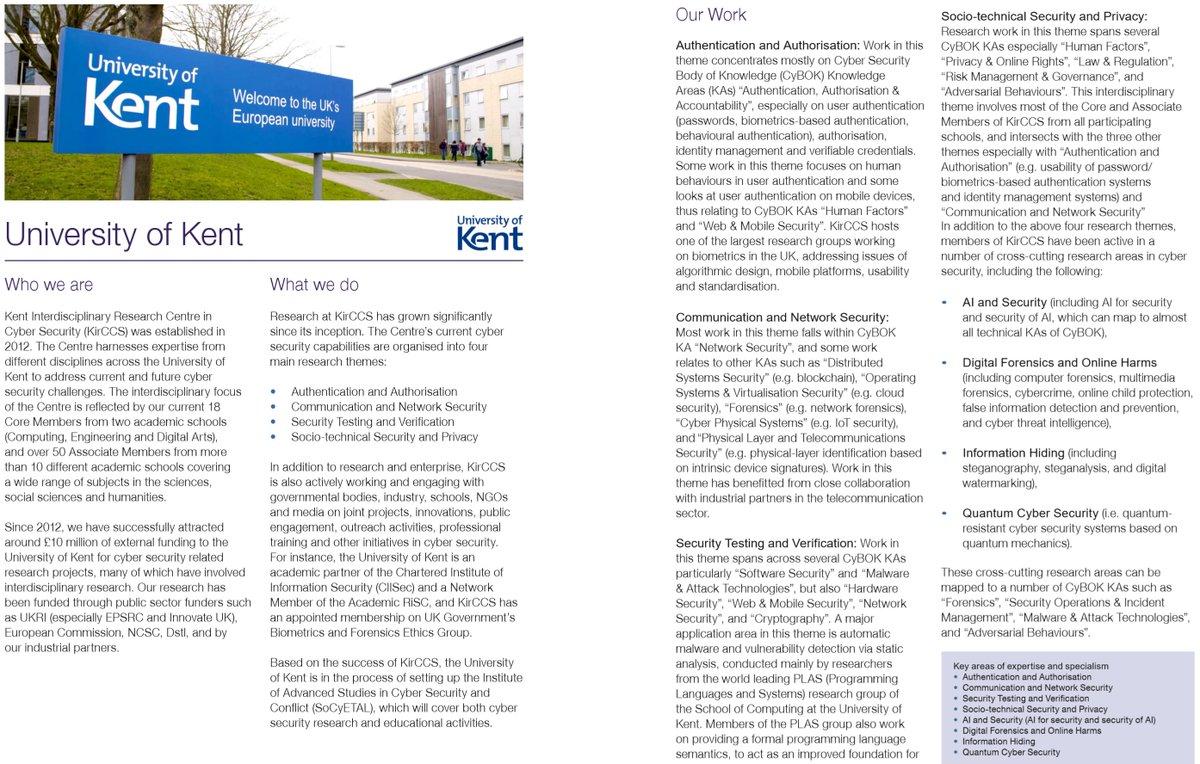 Our updated ACE-CSR brochure. #Uni-Kent