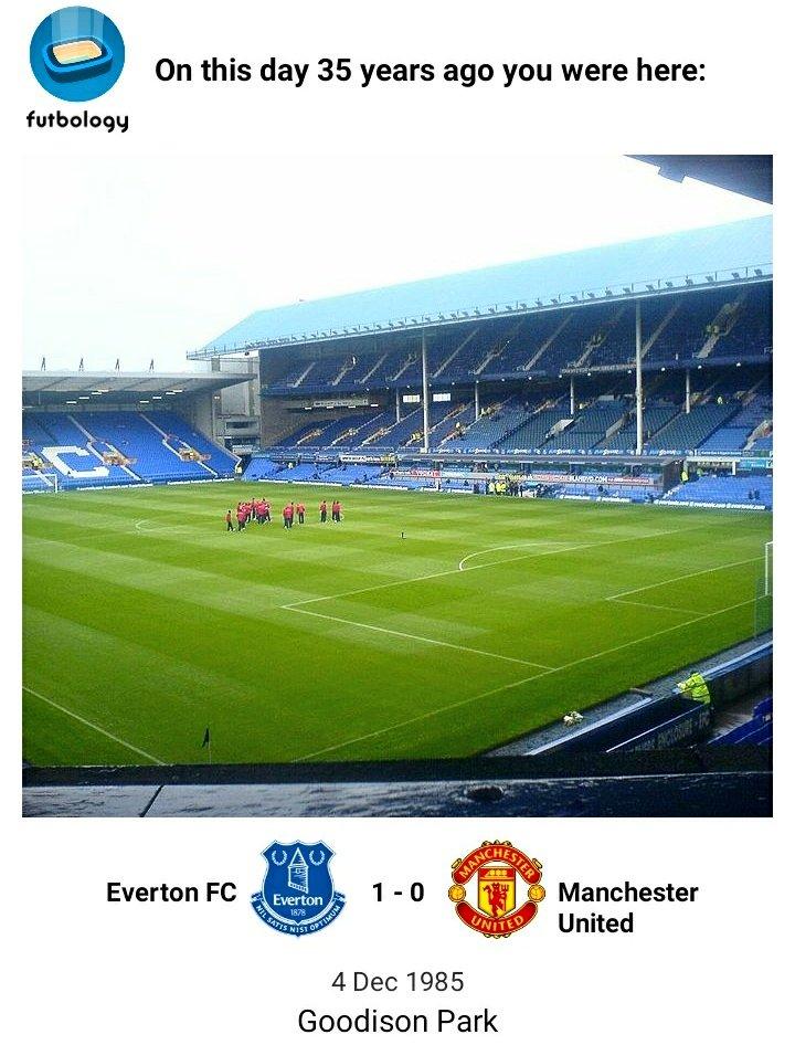 🗓 4th December 1985 🏟 Goodison Park  🏆 Screen Sport Super Cup @Everton 1 (OG - Stapleton) @ManUtd 0 📣 Att: 20,542 📽  (own goal at 1:15) #Everton #EFC #OnThisDay