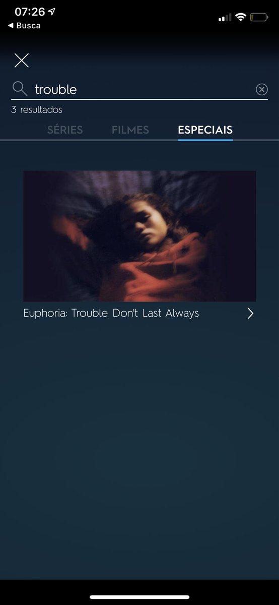 ep especial de euphoria já tá no HBOGO mas precisa buscar pelo do episódio pra achar #EuphoriaHBO #Euphoria