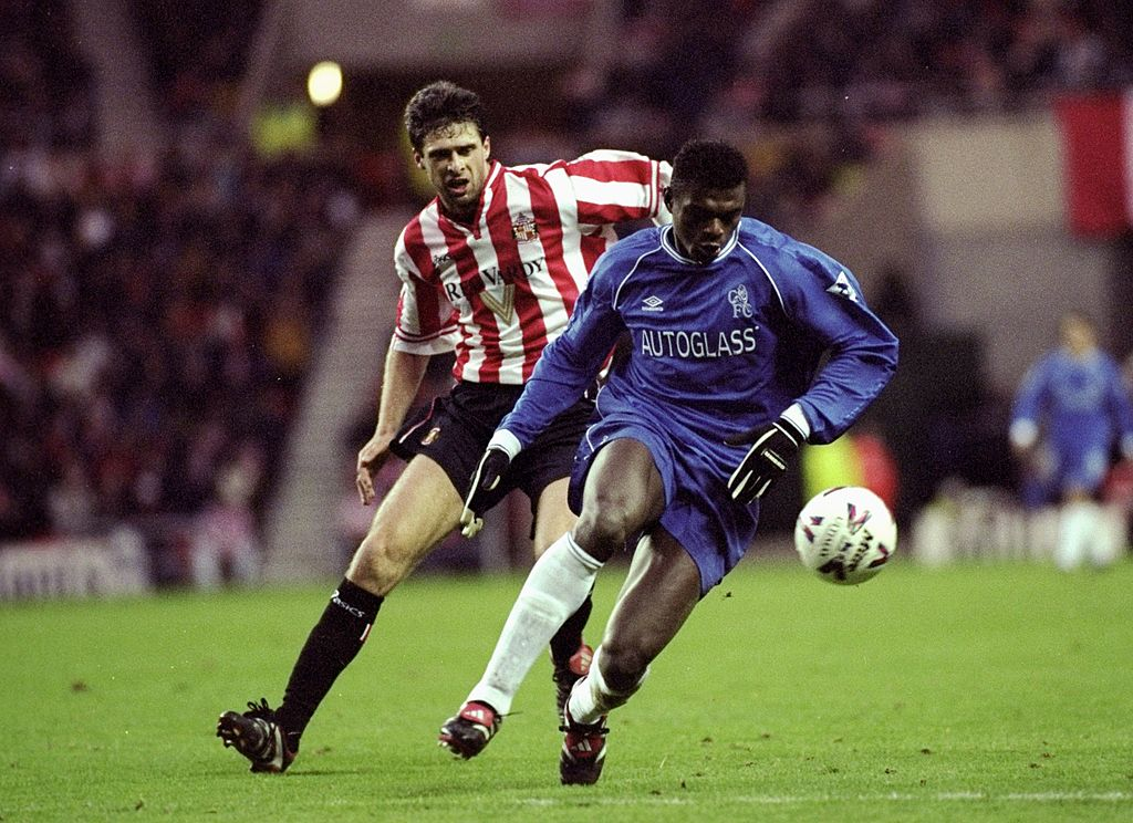 #OnThisDay in 1999, Niall Quinn and Kevin Phillips netted braces as Sunderland thrashed Chelsea 4-1 at the Stadium of Light ⚽⚽⚽⚽ #SAFC