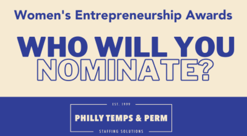 To celebrate #WomensEntrepreneurshipDay, @phillytemps is hosting the Women's Entreprenuership Awards. Know a #FemaleBoss? Nominate them now through December 7th!