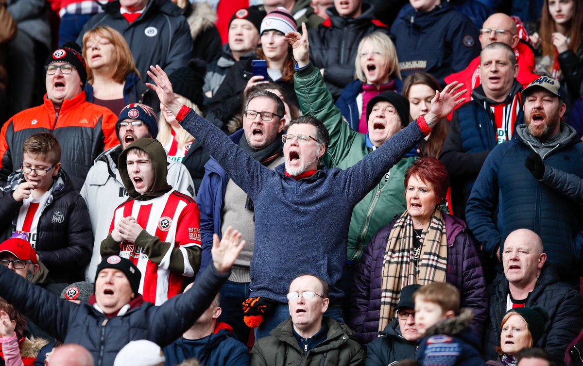 """Chris Wilder on fans. 👇  """"Let our fans back in aswell. Even the smallest amount would have been fabulous on Sunday.   Hopefully we'll get supporters back inside Bramall Lane because i'd be delighted. It'll be a special day when that happens."""""""