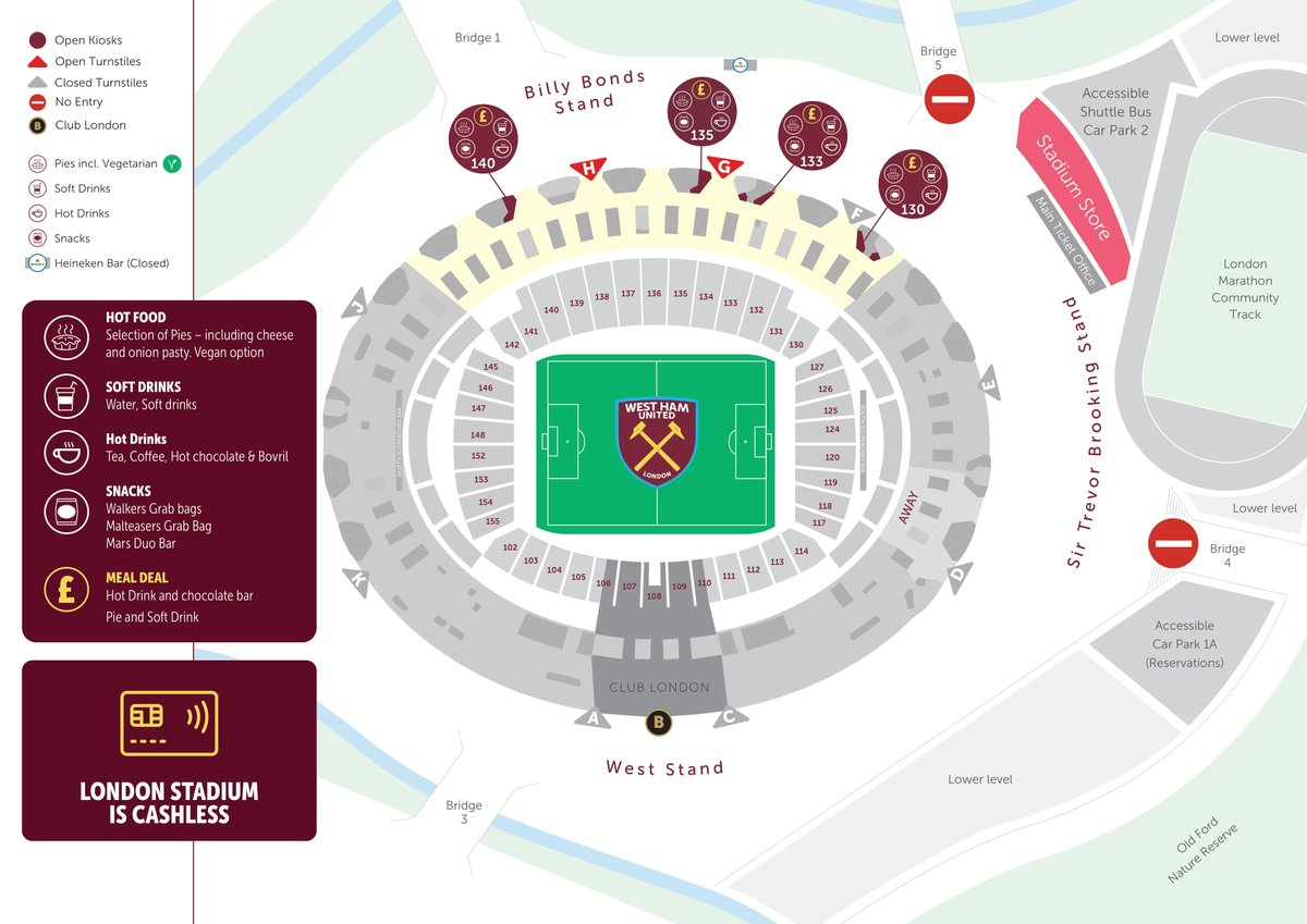☕ | Food and drink will be available inside the stadium from 16:00!  There is a limited menu on sale to ensure staff can socially distance in the kiosks.  Supporters are welcome to bring their own food and drink.
