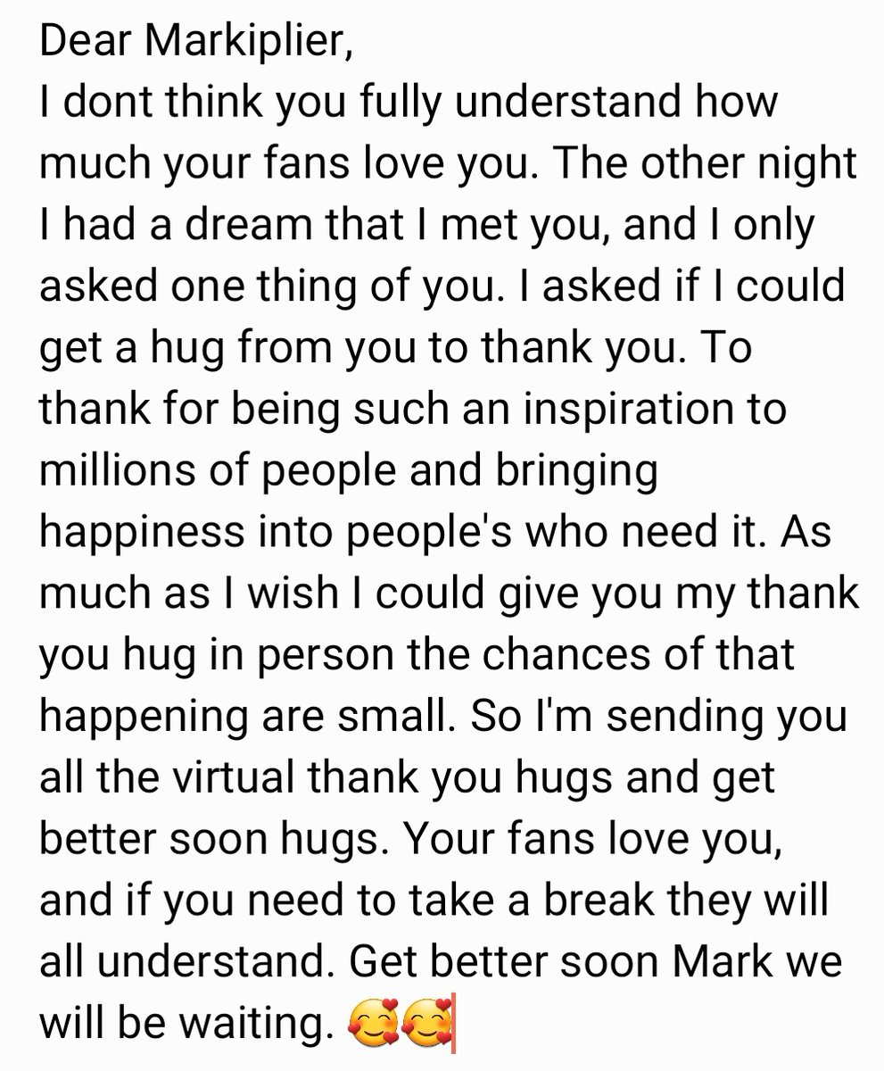 #GetWellSoonMark I didnt think I could fit everything I wanted to say into the limited tweet so I typed it in my memo and screenshoted it. Thank you🥰🥰🥰🥰