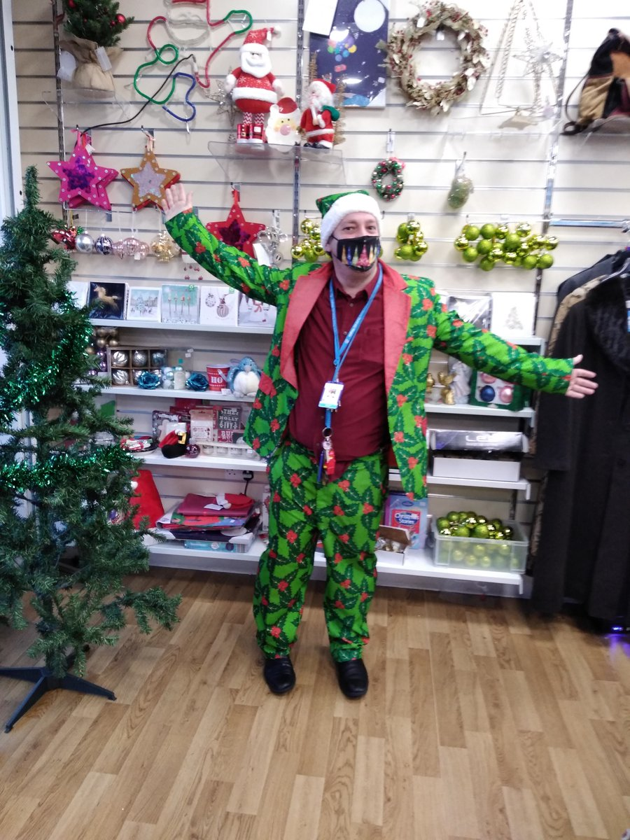 A Christmas Elf has been spotted in our Great Homer Street shop in Liverpool #ChristmasHatDay