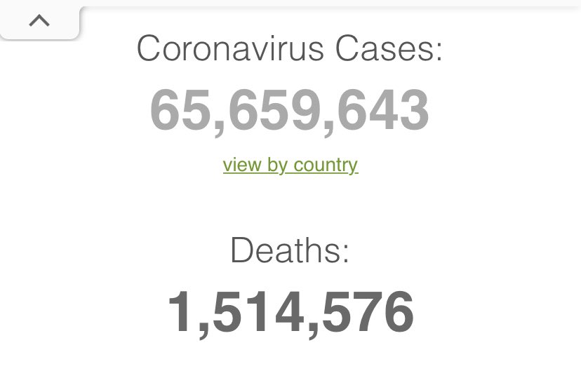 @HotAusChick @underland420 @ACurrentAffair9 An extra 100,000 dead from the #coronavirus in the past week. 1,500,000 in total so far. The #vaccine hasn't killed anyone. #TrumpVirus #vaccines #VaccinoAntiCovid #VaccinesWork #vaccination