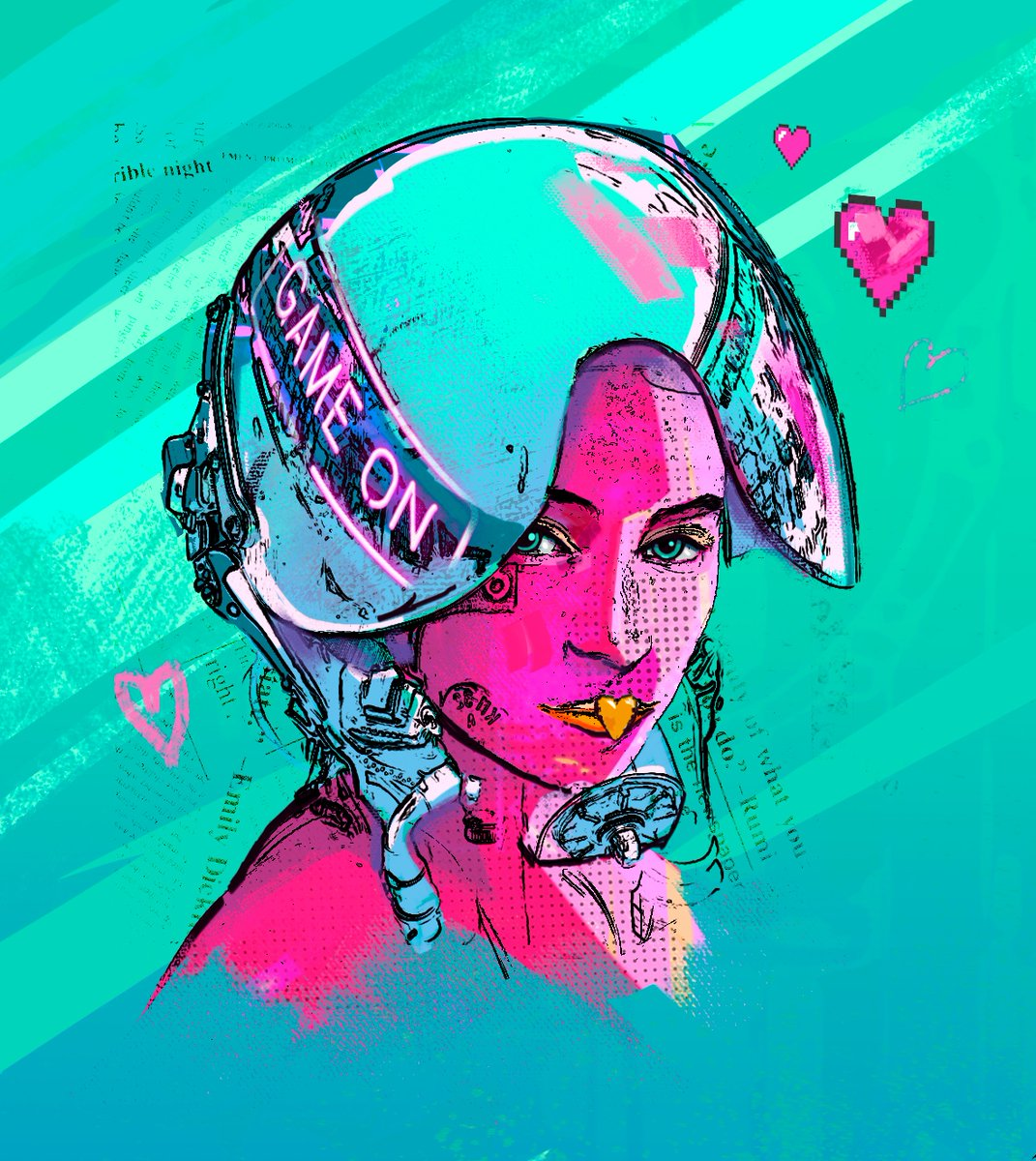 Quick Friday piece. Feeling the Cyberpunk 2077 vibes.  #art #future #digitalart #glitch #instadaily #graphic #anime #industrial #futuristic #futuristicfashion #cybergoth #techwear #cyberpunk2077 #gamer #cyber #scifi #conceptart #futurepunk #gaming #cyberpunk