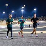 Sneaking in a run before the first FP1 runs 😎   #AlphaTauri #F1 #Sakhir 🇧🇭