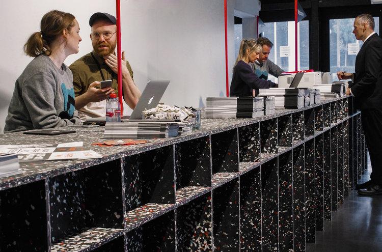 test Twitter Media - Entrance Desk @ Interieur Biennale Kortrijk with Studio Verter. Photo: Plasticiet https://t.co/cLnnwkQPtn