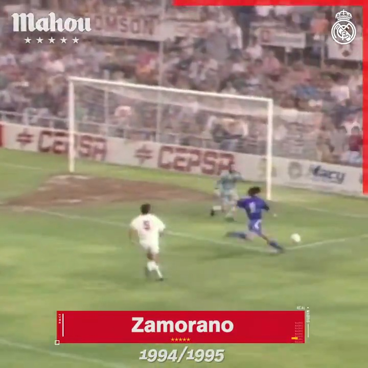 9️⃣🇨🇱 ¡'Bam Bam' Zamorano! ⚽⚽ ¡@bambam9oficial por partida doble! ✍️ 🆚 @SevillaFC 📅 1994/95 🏆 @LaLiga @futbolmahou | #ElSaborQueNosUne