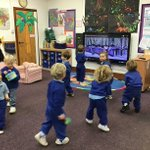 We have had lots of fun with music and beat in Nursery this week. The children used their listening skills to play 'Freeze' when the music stopped, they drew to music where they expressed how the music made them feel and and had great fun being part of the Nursery marching band!