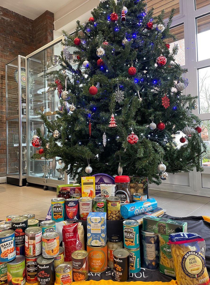 Huge thanks to all the parents who have sent in donations so far for the Reverse Advent Calendar in support of @One_Can_Trust. The boxes in Reception are filling nicely. Donations welcome until 11th December, non-perishable items only #BeMoreInvolved #foodbank  🍫🍪🥫🍬
