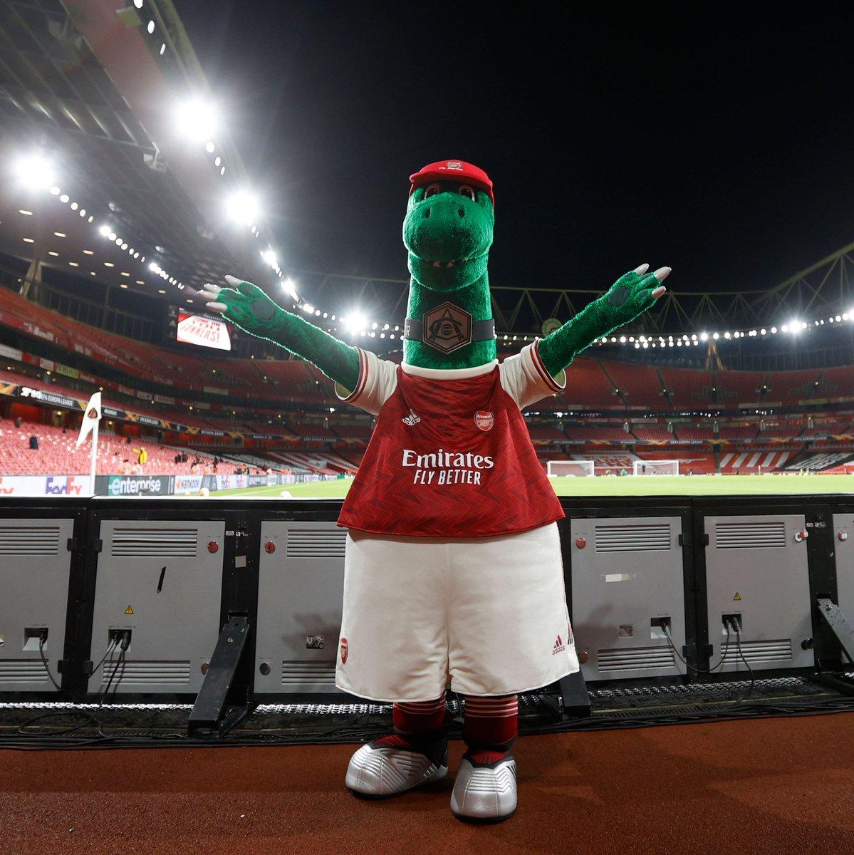 Return of fans and @Gunnersaurus to Emirates.  And  A Big Win.  Reasons to cheer up! 😀  #ARSRW #Gunners #YaGunnersYa #Arsenal #UEL