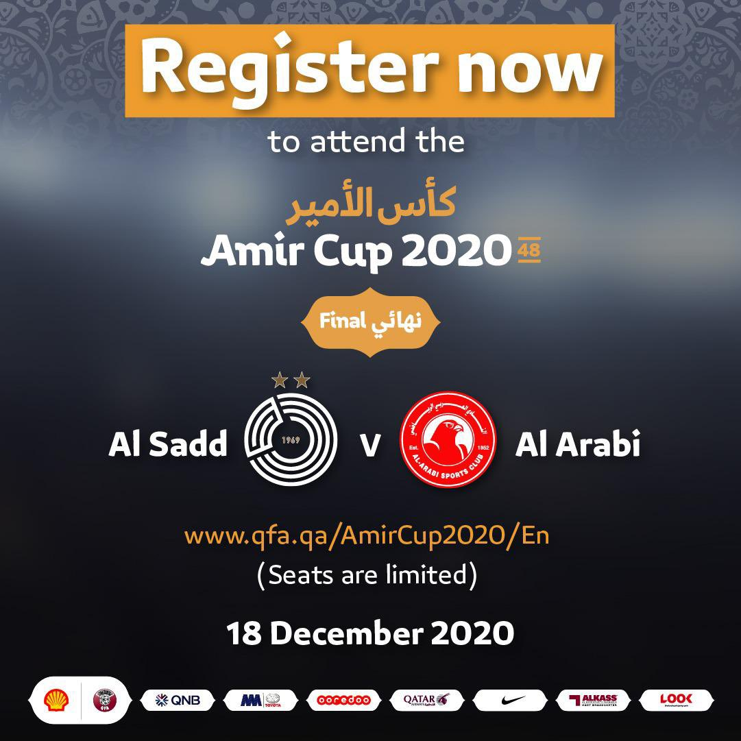 For those who wish to attend the 2020 Amir Cup final, kindly book your match ticket through the following link 👇🏻    #AmirCup2020