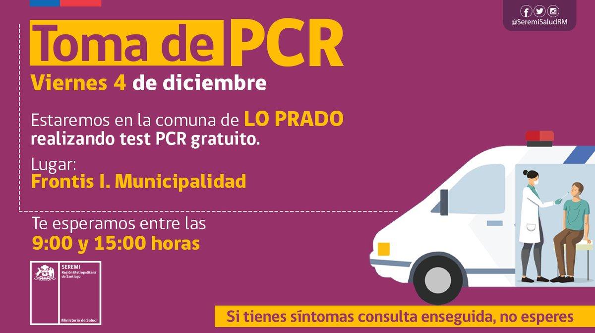 Hoy en @MuniLoPrado, @Muni_Recoleta, @SanJoaquinCity y @impudahuel estamos realizando la toma de muestras de #PCR y la Búsqueda Activa de Casos, #BAC, para prevenir los contagios de #Covid_19.   #CuidémonosEntreTodos.