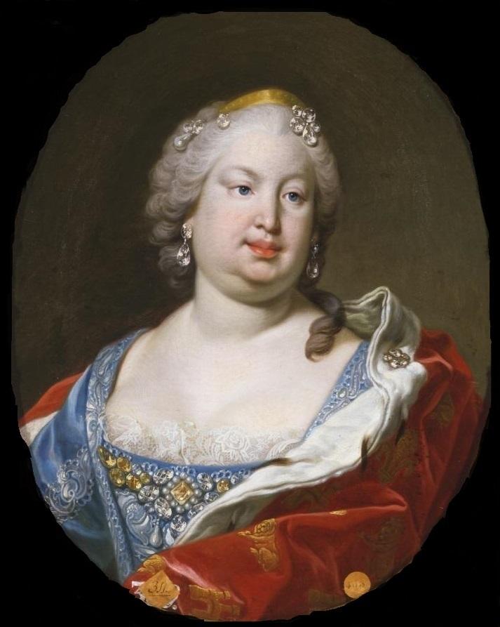 Born #OnThisDay in 1711: #BarbaraofPortugal (1711-58), Queen of Spain as spouse of #FerdinandoVI   Portrait by #LouisMichelvanLoo (1707-71), ca. 1750  #Braganza #Bourbon