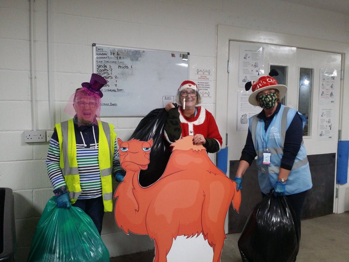"""Three wise women bearing donations"" - Thank you to our brilliant volunteers for getting involved in #ChristmasHatDay 👏👏👏👏"