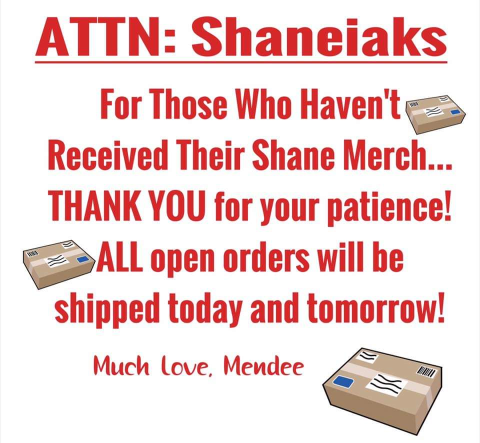 Hey #Shaneiaks!! @addicted2voice is packing as fast as possible to get your exclusive @ShaneEastReads goodies to your homes. Just an update from @MendeeJane - they are processing the rest now & shipping today / tomorrow!🎁 ❤Head to https://t.co/63NuyUo0aq to visit the Shoppe!❤ https://t.co/JtwFfw1ECy