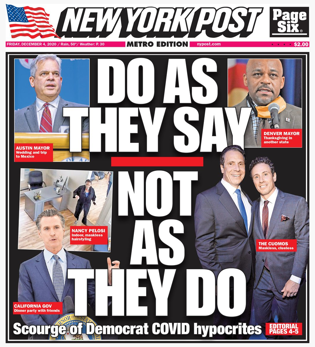 Today's cover: Democrat hypocrites are undermining COVID with 'do as I say, not as I do' attitude https://t.co/oDpvOR8gq0 https://t.co/iA5YHROS9g