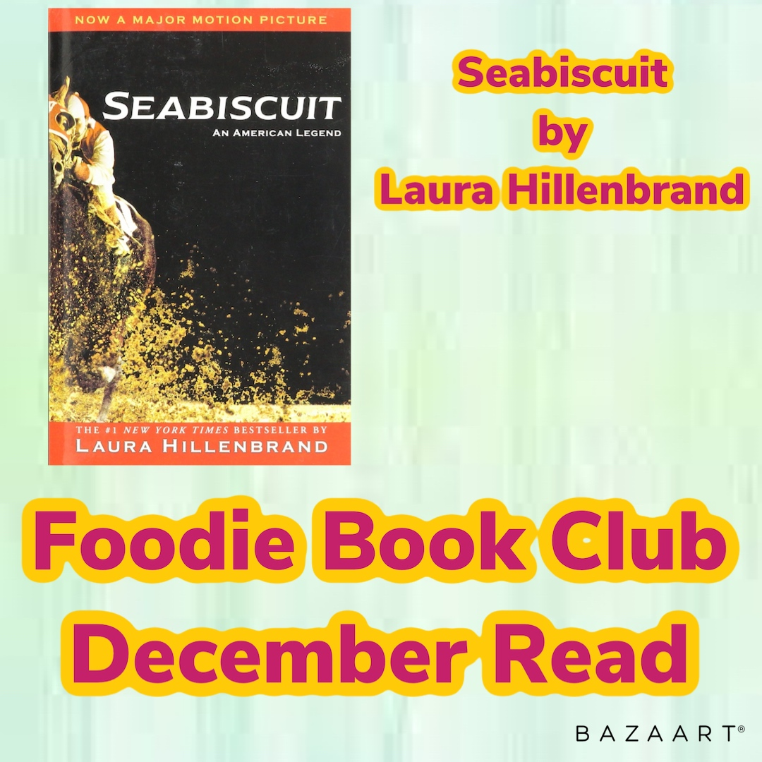December Foodie Book Club read is Seabiscuit by Laura Hillenbrand Start your own group &: ➡️ reap the rewards ➡️connect with people ➡️#supportindependentbusinesses ➡️top chef #recipes  ➡️have fun   #foodiebookclub #fridayfeeling #leeandthesweetlife