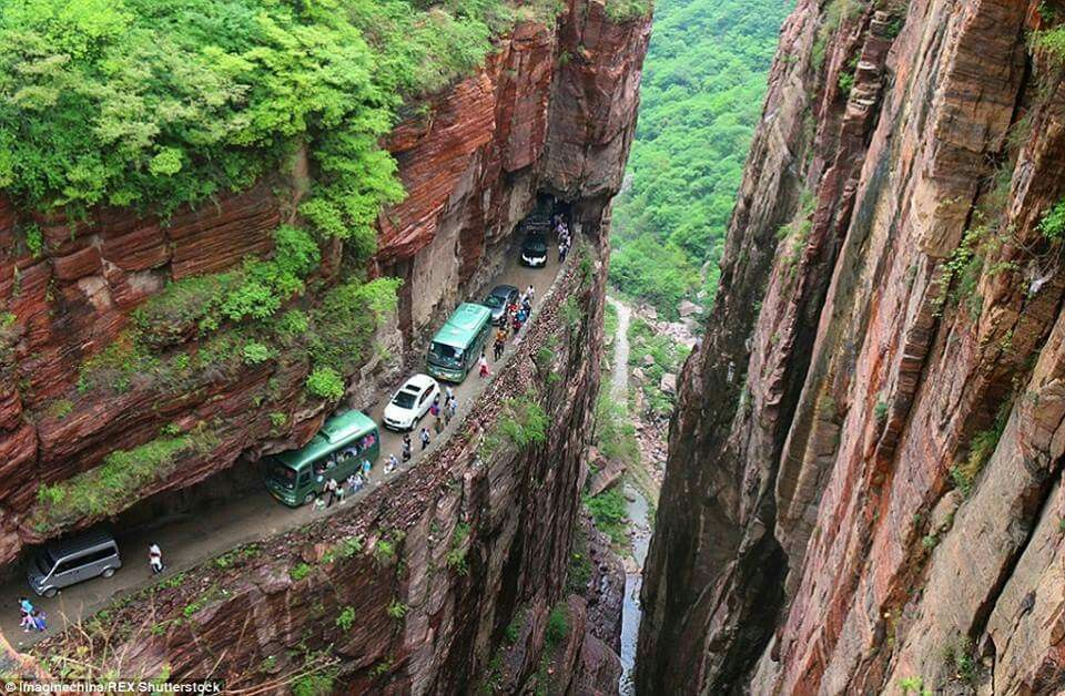 World's Best Road Trips Guoliang Tunnel Road, China👍😍 Go to our bio and follow the link to great deals on amazing vehicles, or call us at 1 (204) 272-6679 #adventure #nature #outdoors #mountains #explore #rv #cars #camping #travel #winnipeg #roadtrip #november