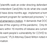 Image for the Tweet beginning: COVID Surges in MA Prisons,