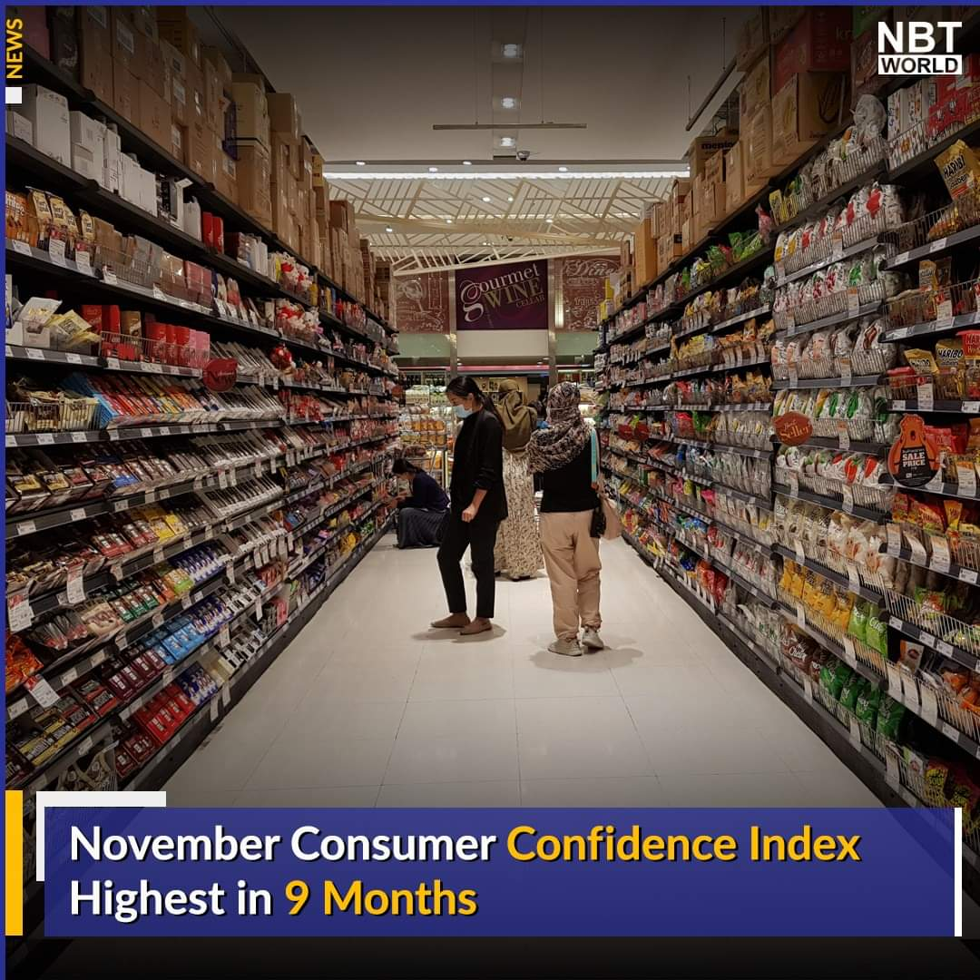 The Consumer Confidence Index (CCI) in November rose for 2 straight months to 52.4, the highest figure in the past 9 months since March.  Read more :   #UTCC #ConsumerconfidenceIndex #CCI #November #ข่าวด่วน #หอการค้าไทย #ดัชนีเชื่อมั่นผู้บริโภค #พฤศจิกายน