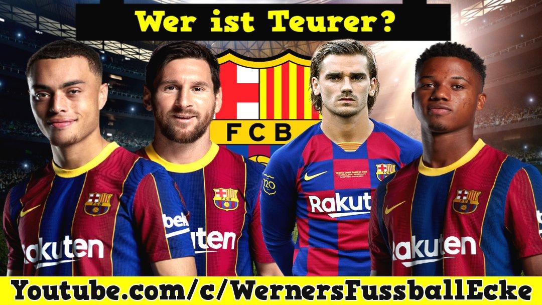 Welcher Barcelona Spieler ist teurer?  FT. Messi & Ansu Fati - Fußball Q...  via @YouTube   #Fussball #Barcelona #FCBarcelona #football #calcio #Messi  #ansufati #quiz #fussballquiz #YouTube #YouTuber #deutsch #dest #LaLiga #FCB #LionelMessi #Griezmann