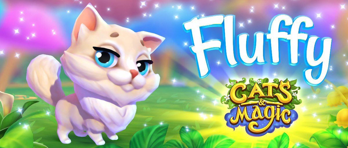 """Meeoowfff... murrr??? 🐾 Umm, sorry, Fluffy doesn't speak human, so let us translate 🤓: """"My name's Fluffy and I'd love to play with you!"""" 🧶 Aww, how can you resist this cutie? 🧸  #FridayFeeling"""
