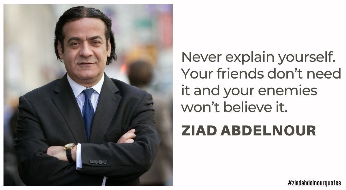 Never explain yourself. Your friends don't need it and your enemies won't believe it.    #ZiadAbdelnourQuotes #BeYourSelf #Friends #Enemies #fact #factoftheday #believe #Friday #FridayMotivation #fridaymorning #FridayThoughts #FridayFeeling #FridayFeeling
