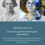 Are you an educator or an activist? Do you love #STEM, #biodiversity, #plants? Are you passionate about amplifying the voices of women scientists & BIPOC communities? Here is a free DIY film-screening kit about the amazing Mexican-US botanist Ynes Mexia: https://t.co/U12eUHGT6J