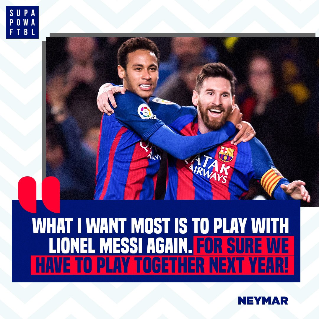 With rumours of both the players looking to leave their respective clubs next season, which team would you like to see them reunited at? 🤩🔥  #Neymar #Messi #PSG #Barcelona