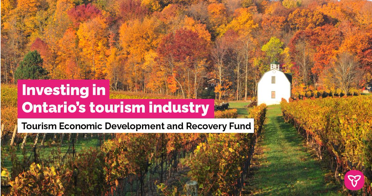 #ICYMI: Minister @MacLeodLisa announced Ontario's investment of $912,000 into 14 initiatives through the new Tourism Economic Development and Recovery Fund. This investment will support the recovery and development of Ontario's tourism industry.