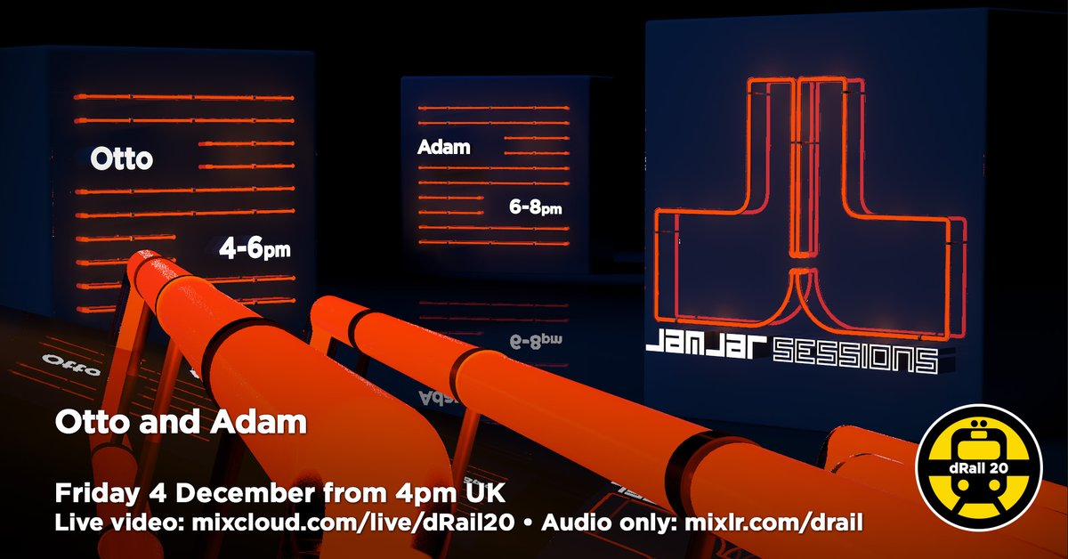 Join us today for our live video stream starting at 4pm GMT with Otto & @admrobrts from Jamjar Sessions. You will hear echoes of the #Balearic ethos, of #cosmicdisco, the deeper side of #house, #acidhouse, of slow #techno. https://t.co/zPCkxKbGjL https://t.co/xpKQGUdxI6
