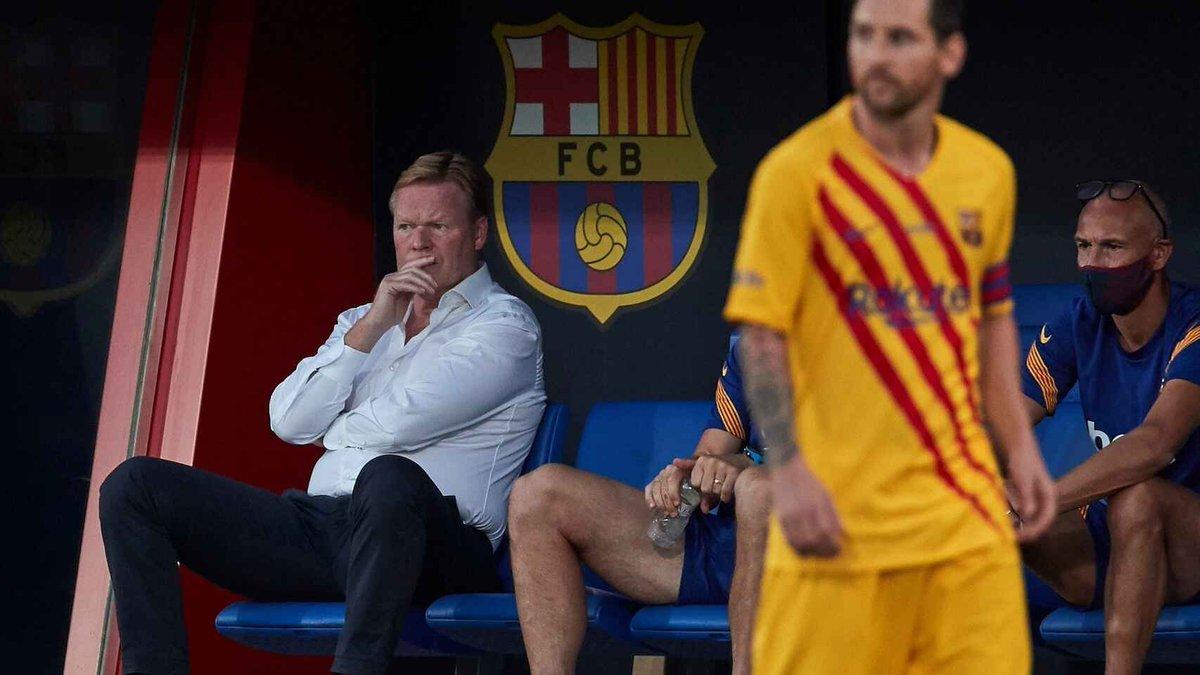 """#Koeman sobre el futuro de #Messi: ''No nos sirven los comentarios del club"""""""