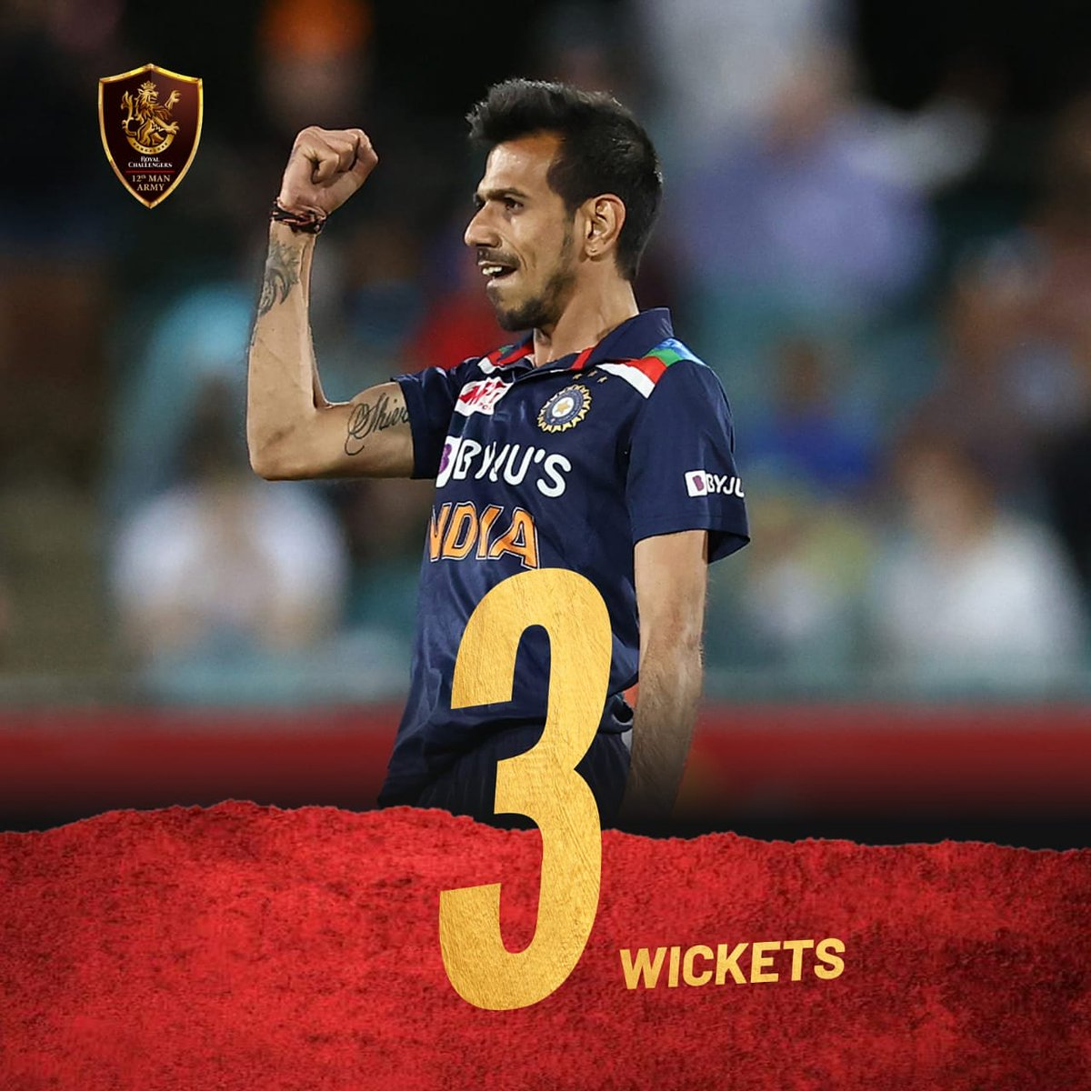 4⃣ overs  2⃣5⃣ runs  3⃣ wickets  A game-changer in the truest sense of the word. How good was @yuzi_chahal today, 12th Man Army? 🤩  #RCB12thManArmy #PlayBold #TeamIndia #DownUnder #AUSvIND