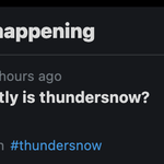 Must... Concentrate... On... Practice...  Ahhh forget it. Brb. #thundersnow